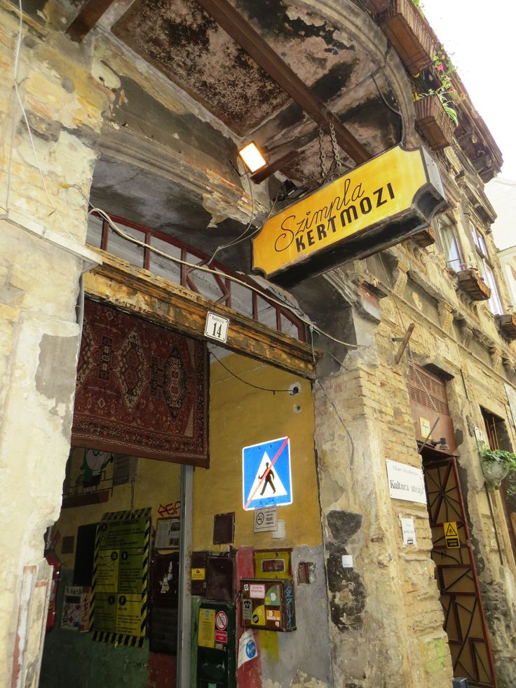 Unusual entrance to szimpla kert the most popular ruin pub in budapest