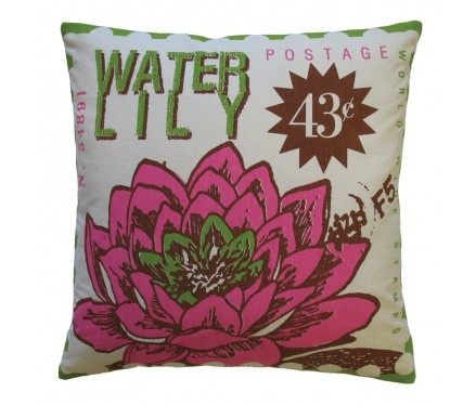 Water Lily Toss Pillow >> Fun! Would be great on a porch.