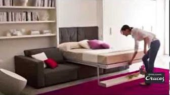 Don H Muebles presentó un modelo de cama rebatible - YouTube