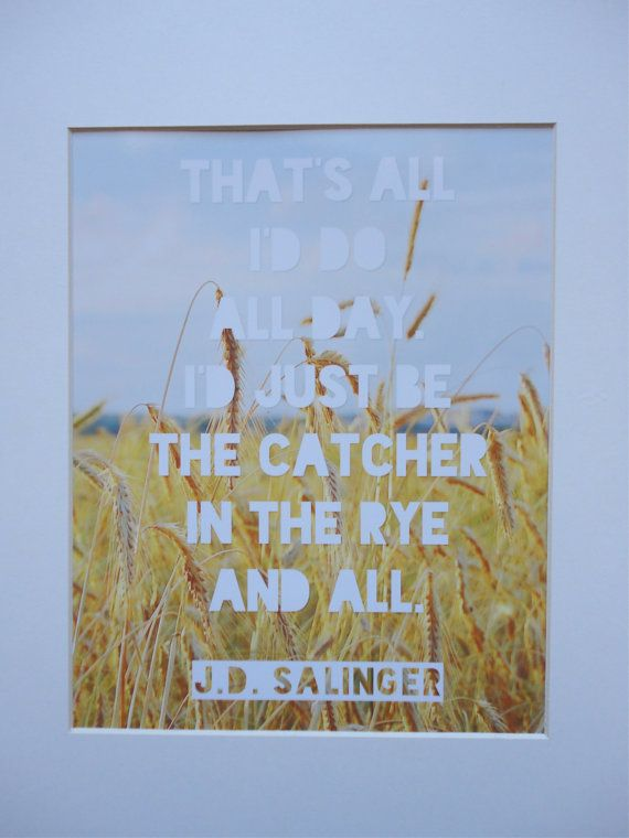 an analysis of holden caulfield in the catcher in the rye by jd salinger The catcher in the rye is a 1951 novel by j d salinger a controversial novel originally published for adults, it has since become popular with adolescents for its themes of teenage angst and alienation.