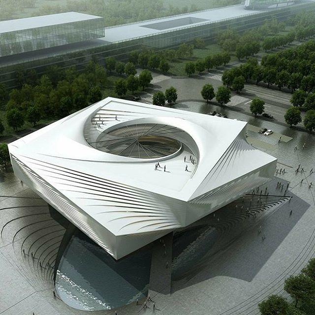 Huizhou museum project rendered by lights cg lab interni for Interni architettura