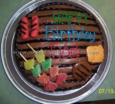 now this cute simple cake, my daughter and i could do for daddy on father day..love it!