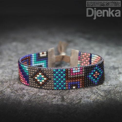 Bransoletka etniczna - beading - Perai - Djenka