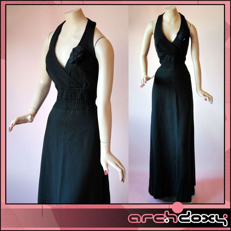 Vintage 1960s FAB MOD LBD Halter Neck Twiggy 'A' Line Evening Maxi Dress #mod  http://www.ebay.co.uk/itm/Vintage-1960s-FAB-MOD-LBD-Halter-Neck-Twiggy-A-Line-Evening-Maxi-Dress-UK10-/371643123808?ssPageName=STRK:MESE:IT