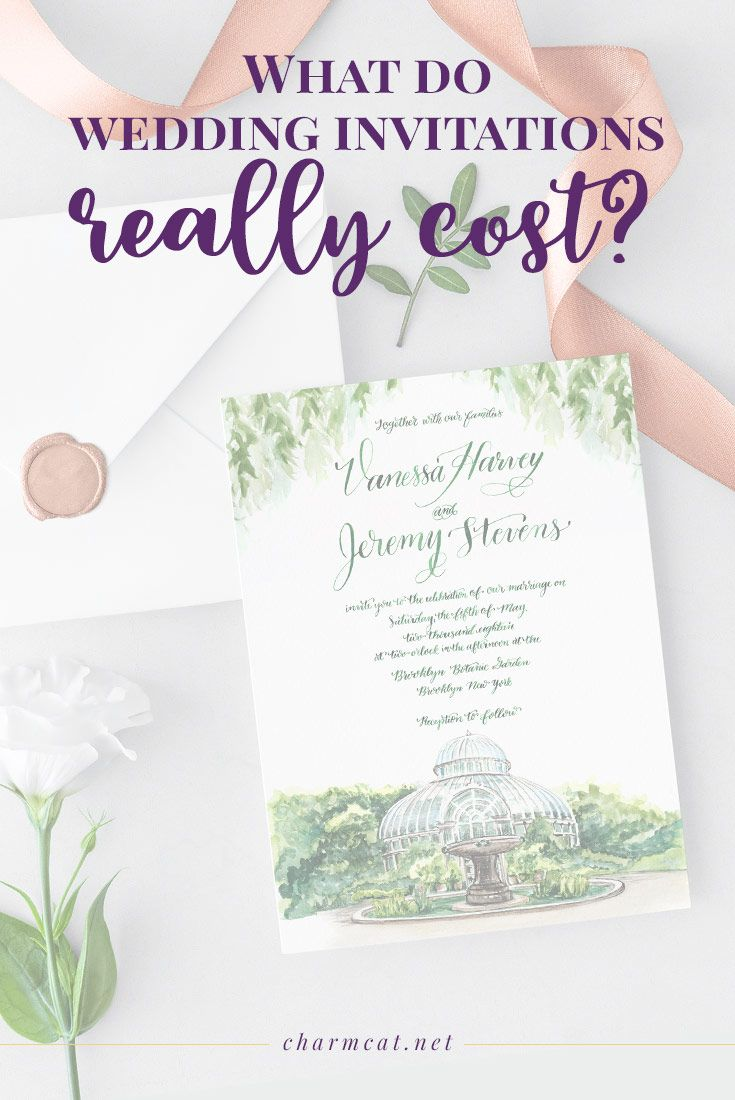 What Do Wedding Invitations Really Cost 6 Factors That Affect Price Charmcat Wedding Invitation Prices Cheap Wedding Invitations Wedding Invitations