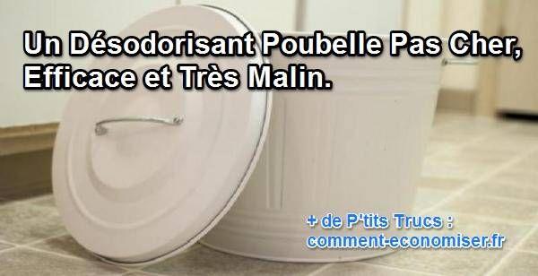 Une astuce pour pouvoir laisser sa poubelle dans sa maison sans pour autant s'en mordre les doigts, c'est possible et facile avec ce désodorisant ingénieux : la litière pour chat.  Découvrez l'astuce ici : http://www.comment-economiser.fr/desodorisant-poubelle.html?utm_content=buffer8e414&utm_medium=social&utm_source=pinterest.com&utm_campaign=buffer