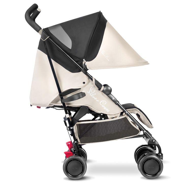 The Silver Cross Pop lightweight pushchair in Sand