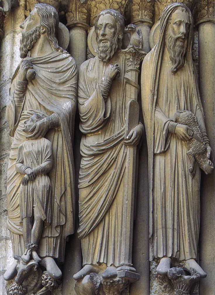 Figures on the north transept unknown french sculptor