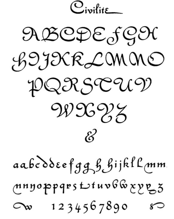Calligraphy Alphabet : Calligraphy Fonts