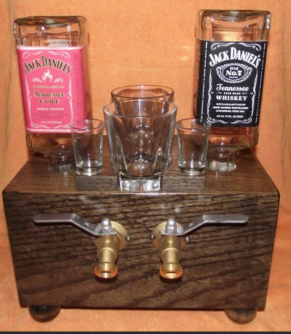 Jack Daniels dual whiskey dispenser. Upcycle by PapasRecyclePlace