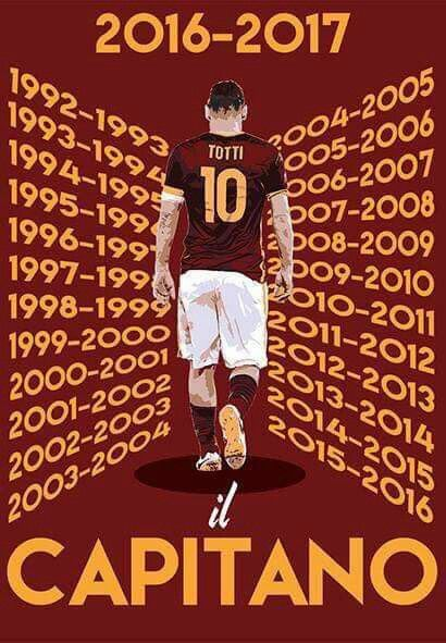 Francesco Totti .Il Capitano. AS Roma.