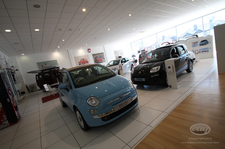 New cars on display at Essex Auto Group in Southend.