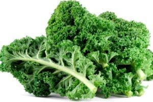 Kale Chips  1 bunch organic kale  1 tbsp olive oil or olive oil spray  Sea salt to taste