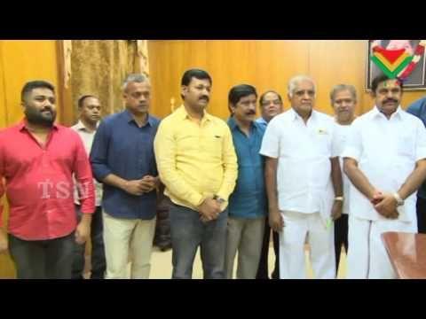 Film Industry Meets CM Edappadi K. Palaniswami | Vishal | Abirami Ramana...