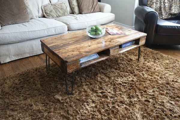 möbel aus paletten couchtisch wohnzimmer teppich