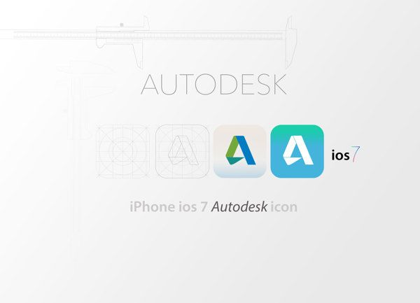 ios 7 autodesk icon by Gürkan EROL..  #ios7 #autodest #icon #iphone #nikhil