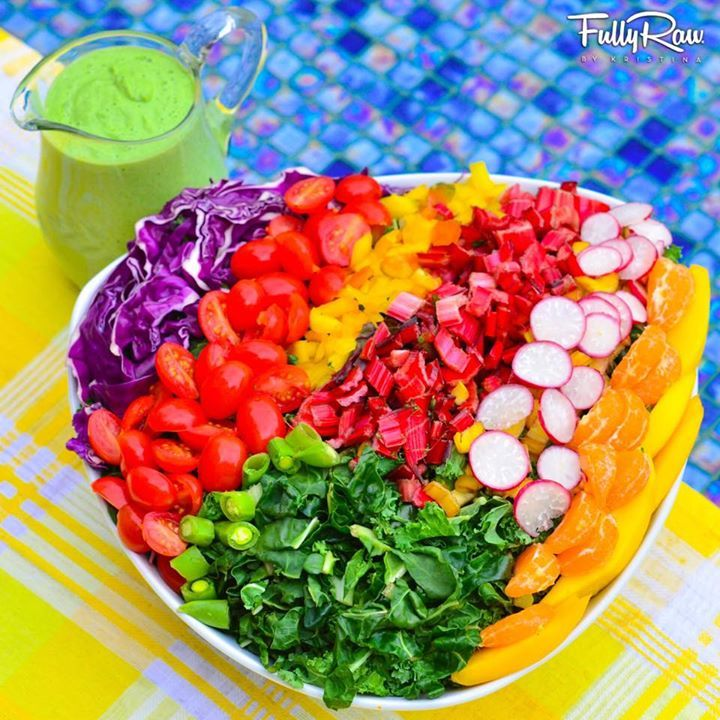 213 best healthy foods lifestyles and recipes images on pinterest fullyraw rainbow salad with a cucumber mint salad dressing day 4 of the is saucy new recipe video link forumfinder Image collections