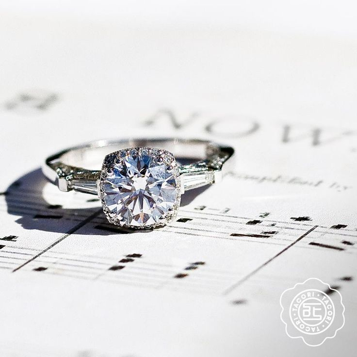 """#Capri #Jewelers #Arizona carries one of the largest #Tacori Collection ~ http://www.caprijewelersaz.com/Tacori/26500001/EN ♥ """"Where words fail, music speaks."""" – Hans Christian Anderson A poetic reminder, featuring @Tacori style no. 2626RD6."""