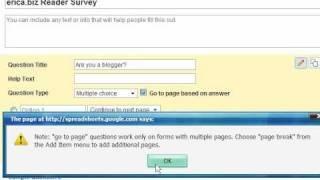 Create a Free Online Survey Using Google Docs (Free Online Survey Tool), via YouTube.