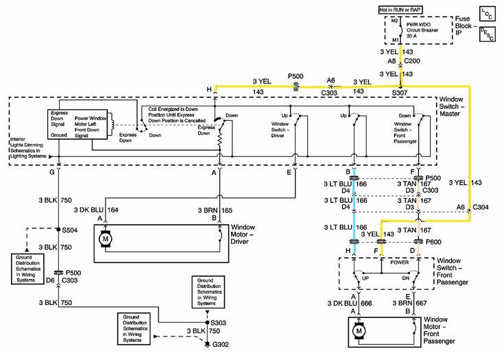 Pontiac Montana Power Window Switch Wiring Diagram