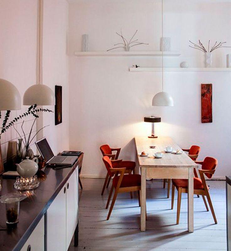 Solu o para sala de jantar estreita mesa estreita e for Sala de estar larga