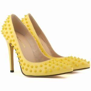 Leder Lady Nieten Schuhe