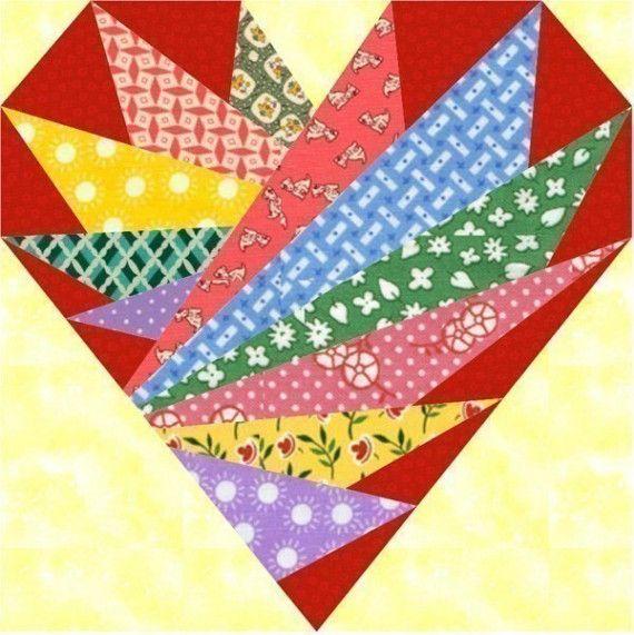 Papel de la pieza patrón del bloque de plumas en mi corazón, formato PDF