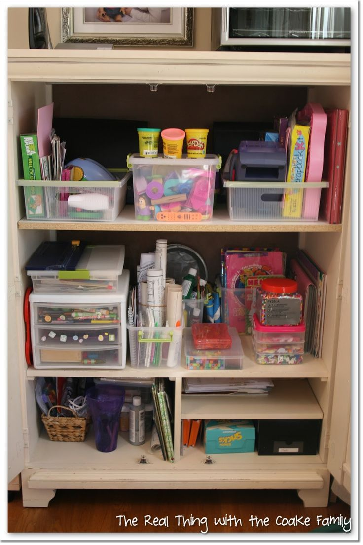 Organised space for crafting.
