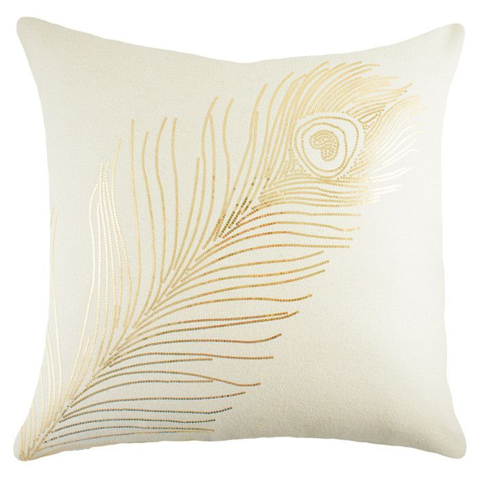 peacock pillow in gold sequins #love