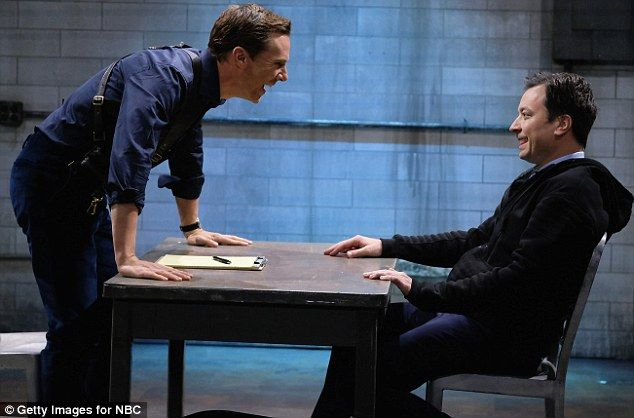 Benedict Cumberbatch grills Jimmy Fallon in hilarious Mad Libs interrogation skit | Daily Mail Online