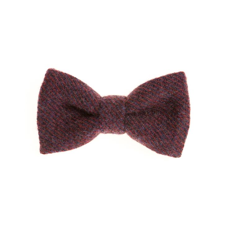 """Aubergine"" Donegal #Tweed  #Bowtie. FREE Worldwide Shipping!"