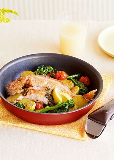 鯛と春野菜のハーブグリル のレシピ・作り方 │ABCクッキングスタジオのレシピ   料理教室・スクールならABCクッキングスタジオ