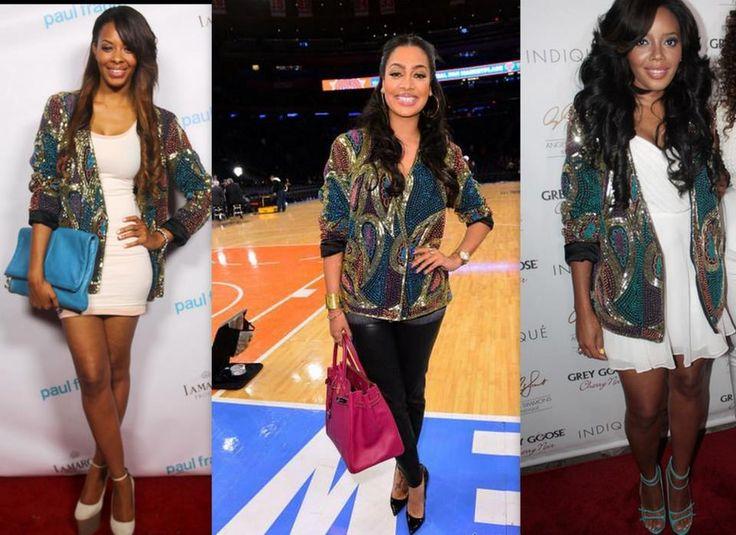 YCFOnline: Vanessa Simmons, Lala Anthony and Angela Simmons wear Virgos Lounge (Aggy) Jacket