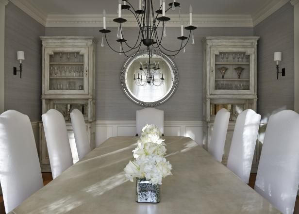 photos hgtv light filled dining room. HGTV Invites You To See This Elegant Gray Dining Room With A Soft, Light Color Photos Hgtv Filled