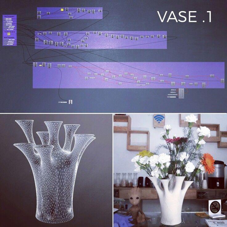 Paranetric vase inspired by Wieland Schmidt's work  #grasshopper3d #laybrick #prusai3