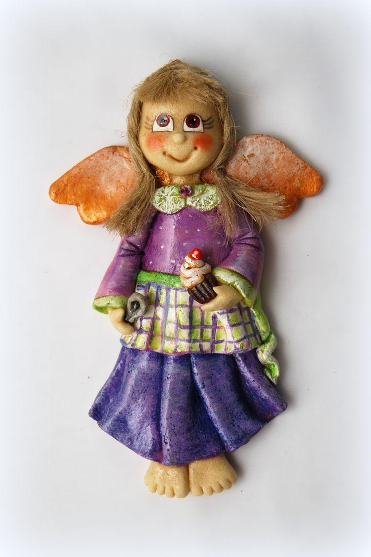 #aus #Engel #Salzmasse #Salzteigengel anioÅ' z masy solnej,salt dough angel  …