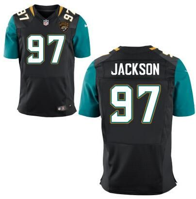 81aca6374 ... clearance limited nfl jacksonville jaguars mens jacksonville jaguars 97  malik jackson black team color nfl nike wholesale womens ...