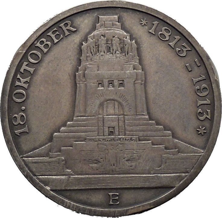 Item specifics     Year:   1913   Composition:   Silver      1913 Saxony Germany Leipzig VictoryVS Napoleon Monument Proof Silver Coin i45011  Price : $148.50  Ends on : 2 weeks Order Now