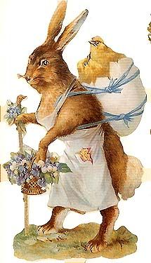 Victorian Easter bunny from England