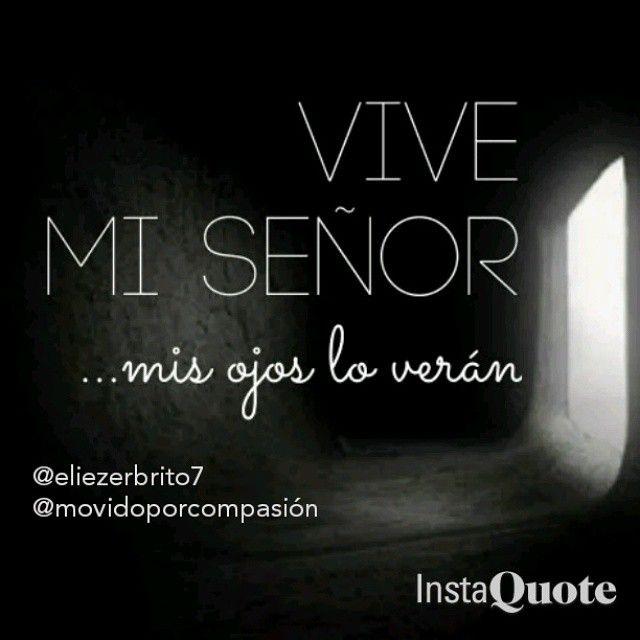 @eliezerbrito7   @movidoporcompasión            . Made with @instaquoteapp #instaquote Mis Ojos te veran mi SEÑOR Yo sé que mi Redentor vive, Y al fin se levantará sobre el polvo; Job 19:25