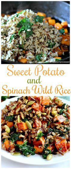 This Sweet Potato and Spinach Wild Rice is a delicious side dish for the fall season.