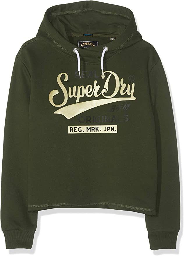 Superdry Damen Real Originals Satin College Crop Hood