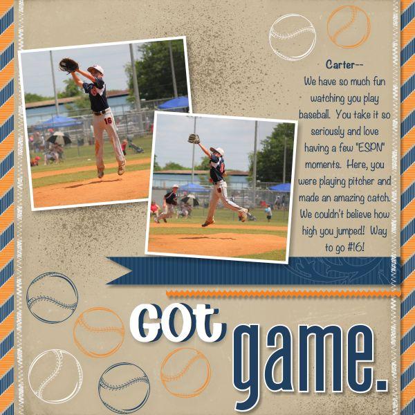 Baseball Scrapbook Layout Using My Digital Studio  Creative Chat Blog