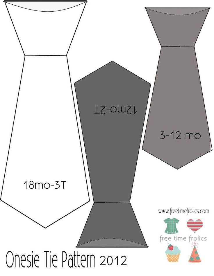 baby boy neck tie pattern www.freetimefrolics.com