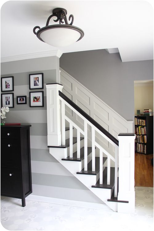 Seriously?!  How much would I love to have my staircase transformed into this?!  The answer, A LOT!