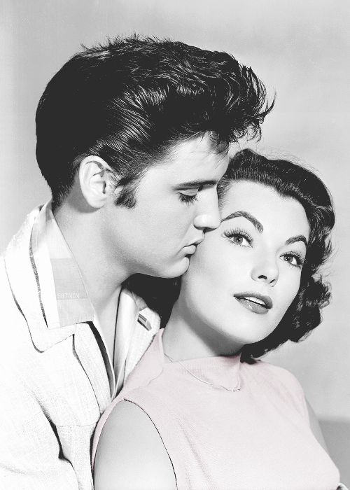 Elvis Presley and Judy Tyler in Jailhouse Rock, 1957.