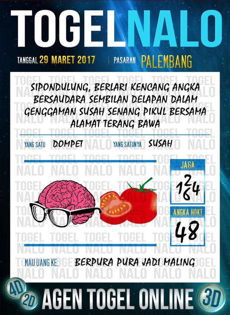 Kode Jitu 6D Togel Wap Online TogelNalo Palembang 29 Maret 2017