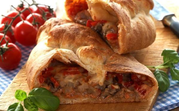 Oppskrift på calzone, innbakt tacopizza
