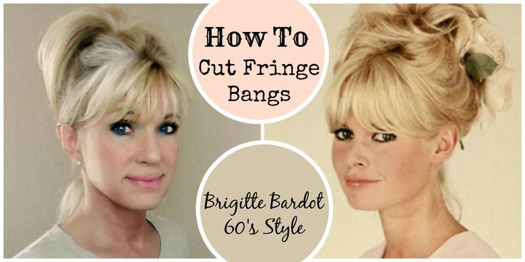 Updated video of how to cut fringe bangs in the Brigitte Bardot 60's style. My original bangs video: https://youtu.be/gPfOL77sLxQ My high ponytail video: htt...