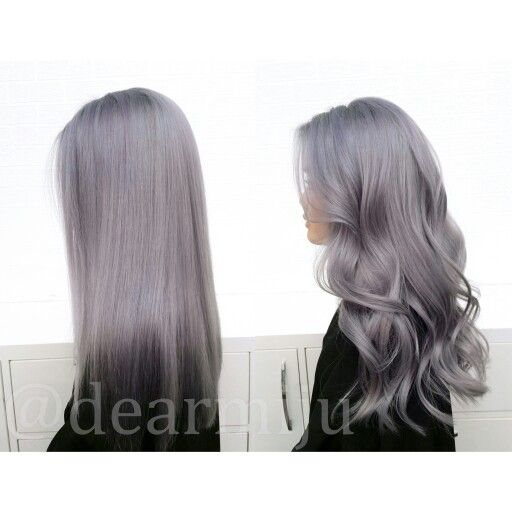 Grey hair with a touch of lavender and lilac tones. #dearmijuhair